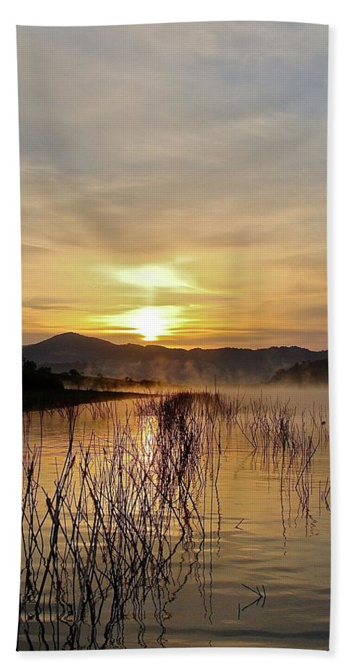 Water Beach Towel featuring the photograph Good Morning  God by Diana Hatcher