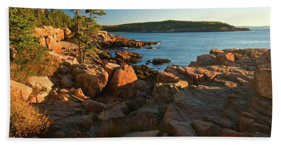 acadia National Park Beach Towel featuring the photograph Good Morning Acadia by Paul Mangold