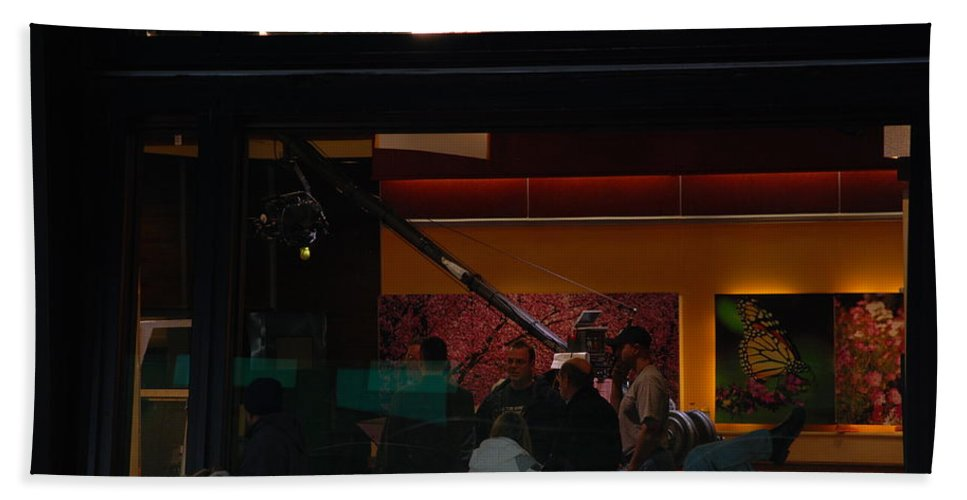 Studio Beach Towel featuring the photograph Good Morning America Commercial Break by Rob Hans