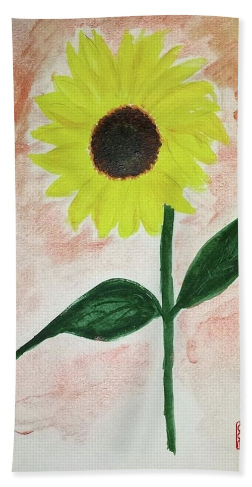 Sunflower Beach Towel featuring the painting Good Morning Sunshine by Margaret Welsh Willowsilk