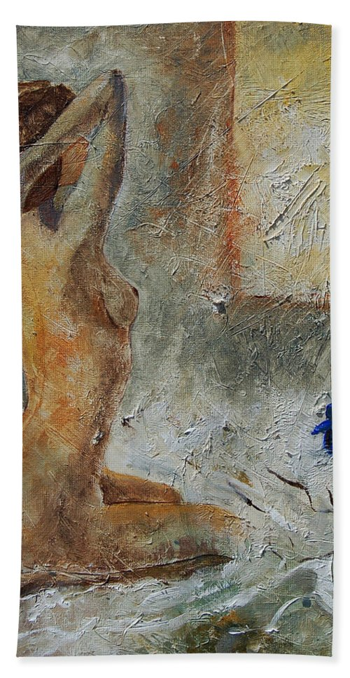 Nude Beach Sheet featuring the painting Good Morning Sunshine by Pol Ledent