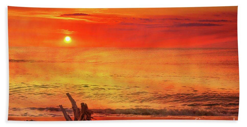 Goodbye Day Beach Towel featuring the digital art Goodbye Day by Randy Steele