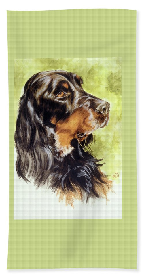 Sporting Group Beach Towel featuring the painting Gordon Setter by Barbara Keith
