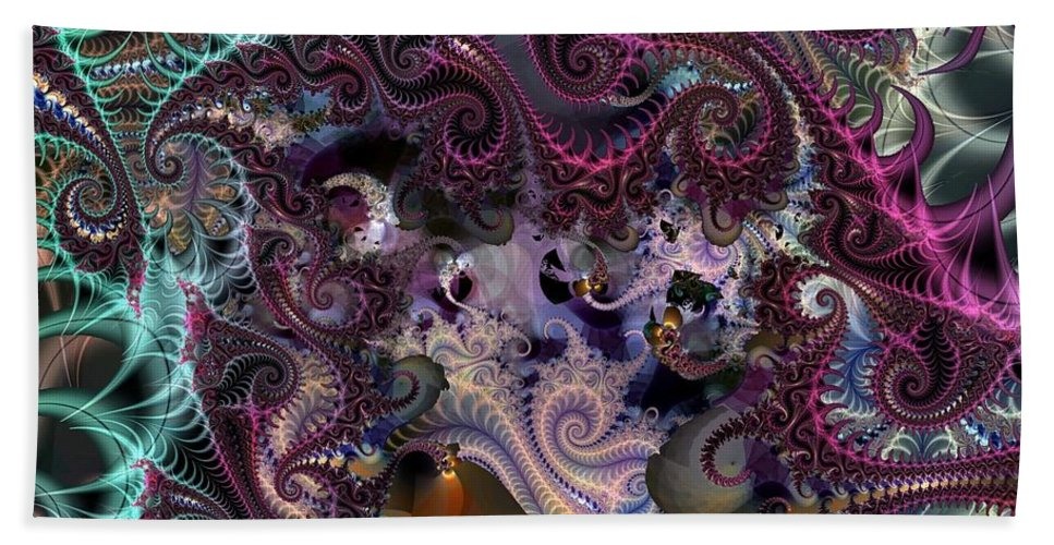 Gorgeous Beach Towel featuring the digital art Gorgeous Pastels by Ron Bissett
