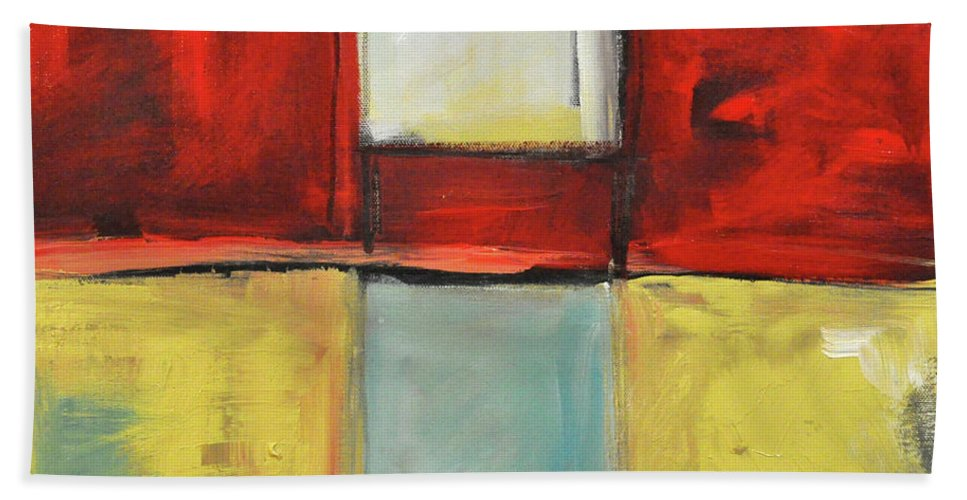 Abstract Beach Towel featuring the painting Gotan Fever by Tim Nyberg