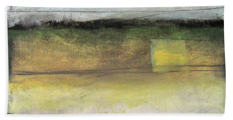 Abstract Beach Towel featuring the painting Gotan Quiet Field by Tim Nyberg