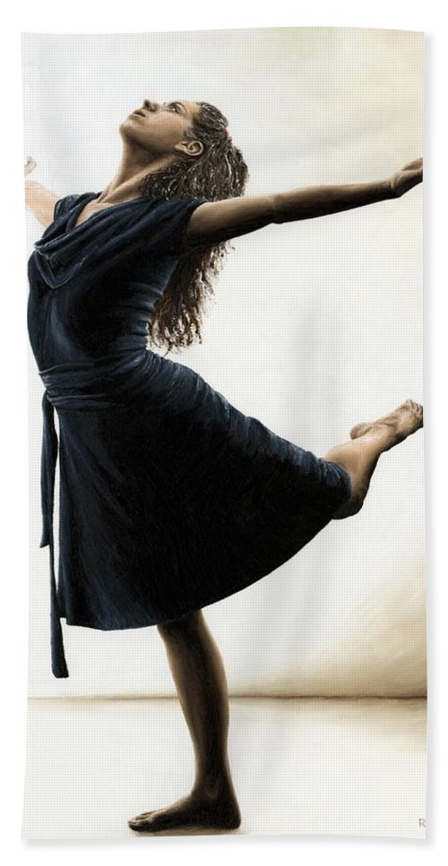 Dancer Beach Towel featuring the painting Graceful Enlightenment by Richard Young