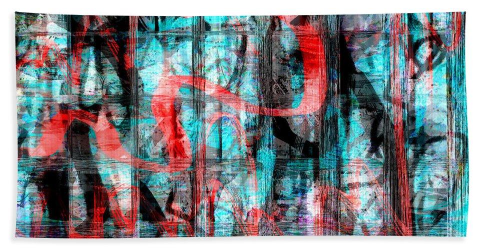 Graffiti Art Beach Towel featuring the digital art Graffiti by Linda Sannuti