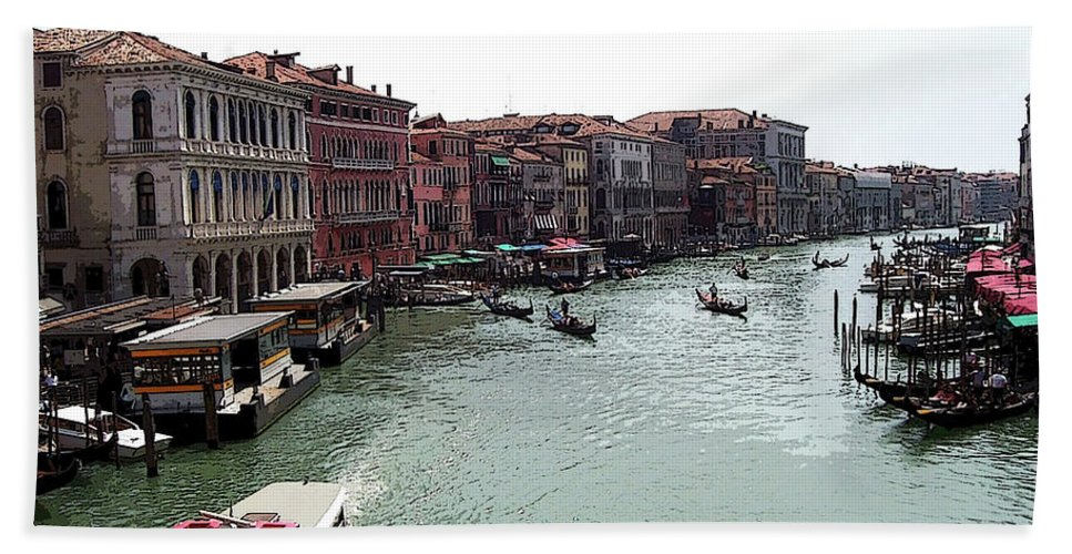 Venice Beach Towel featuring the photograph Grand Canal Venice Italy by Debbie Oppermann