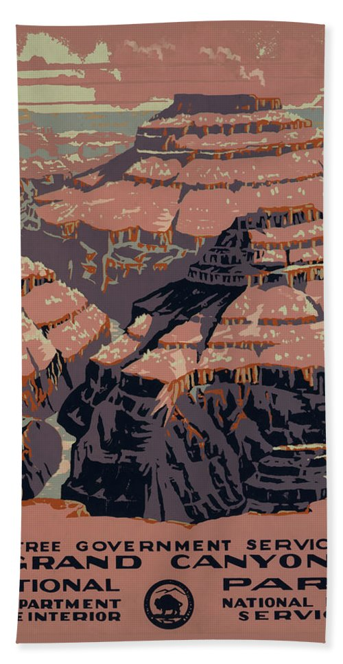 Grand Canyon Beach Towel featuring the digital art Grand Canyon by Unknown