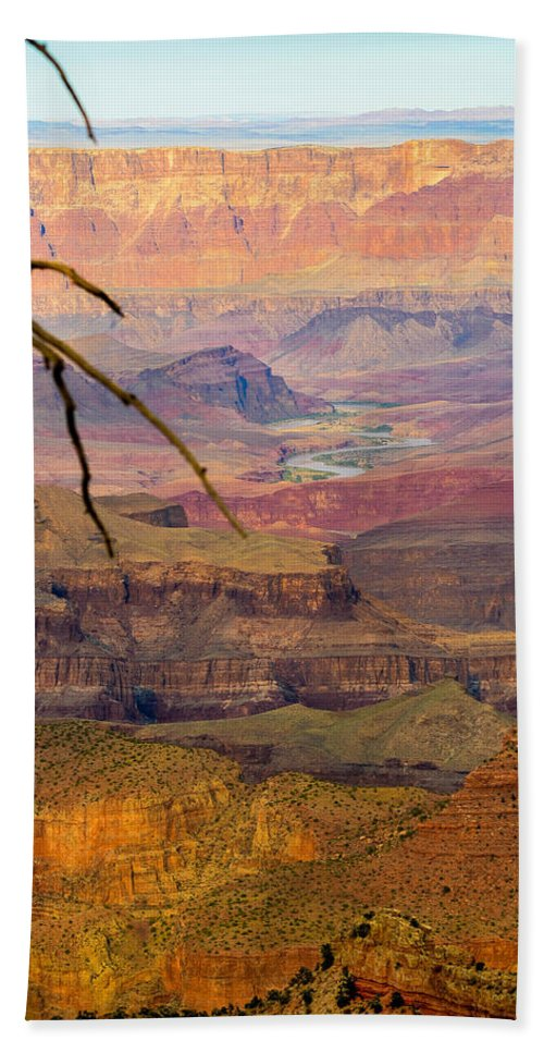 Grand Canyon Beach Towel featuring the photograph Grand Canyon Vista by Joy McAdams