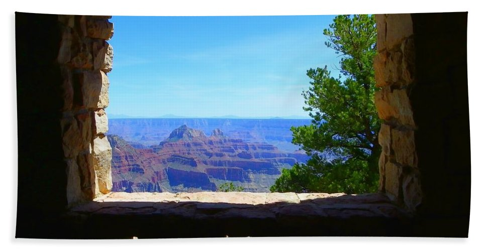 Grand Canyon Beach Towel featuring the photograph Grand Picture by Charleen Treasures