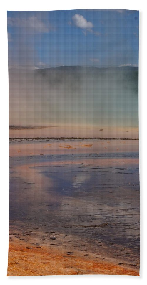 Landscape Beach Towel featuring the photograph Grand Prismatic In Yellowstone Park by Josie Spencer