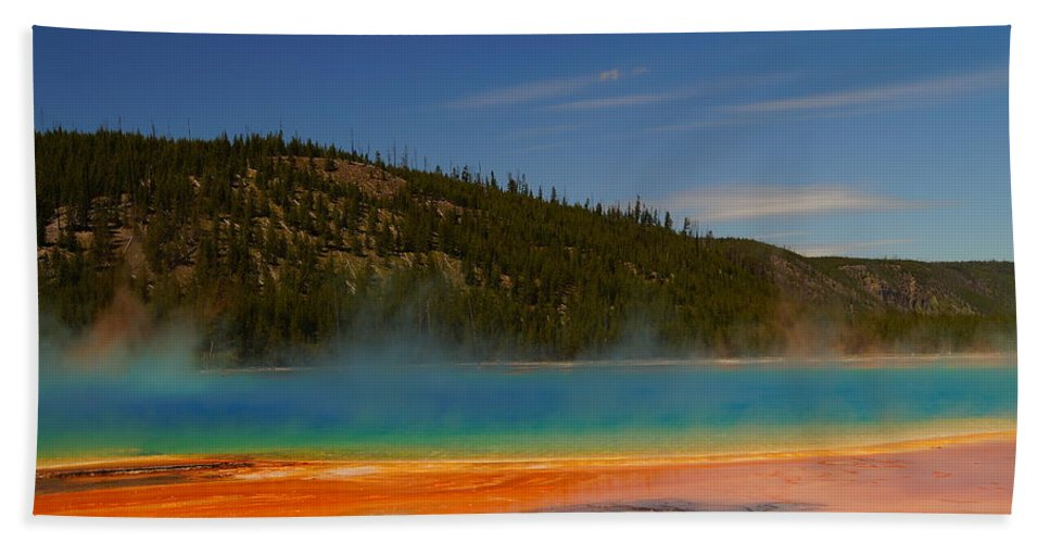 Colorful Beach Towel featuring the photograph Grand Prismatic Pool II by Beth Collins