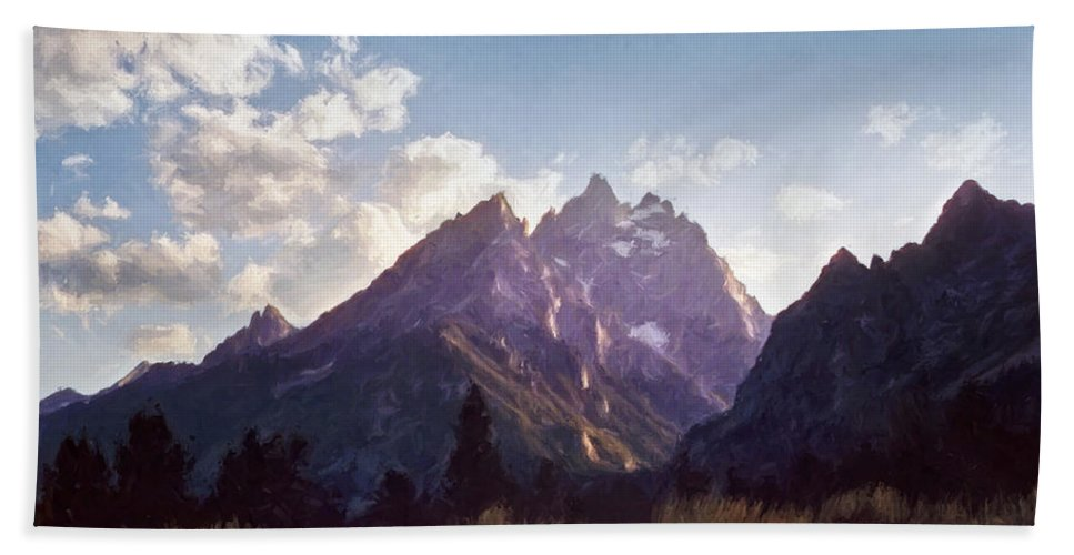 Grand Teton National Park Beach Towel featuring the photograph Grand Teton by Scott Norris