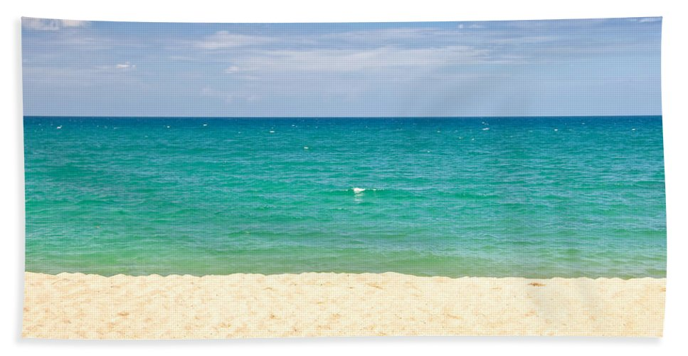 Beach Beach Towel featuring the photograph Graphic Beach by Delphimages Photo Creations