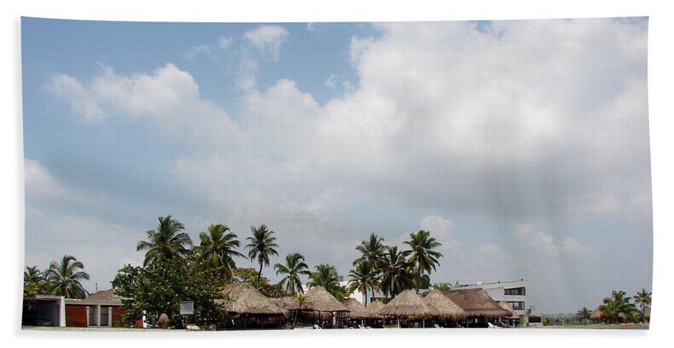 Grass Beach Towel featuring the photograph Grass Huts Colombia II by Brett Winn