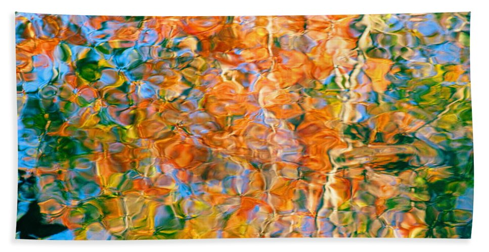 Colorful Liquid Beach Towel featuring the photograph Grateful Heart by Sybil Staples