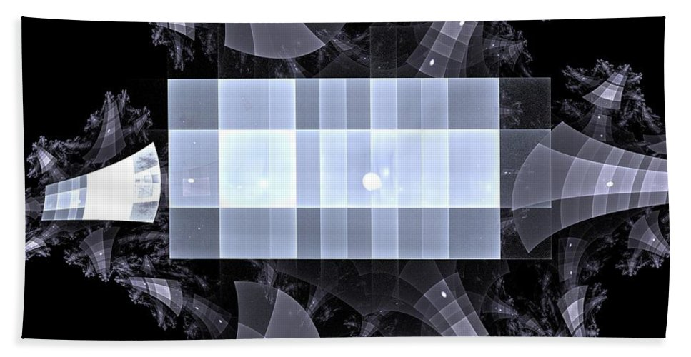 Apophysis Beach Towel featuring the digital art Gray Towers by Kim Sy Ok