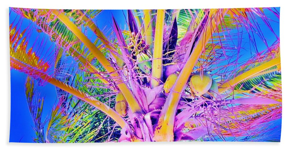 Jellee Pix Beach Towel featuring the digital art Great Abaco Palm by Keri West