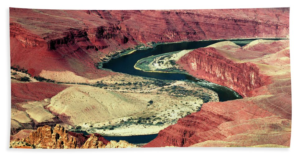 Grand Canyon Beach Towel featuring the photograph Great Color Colorado River by Paul Cannon