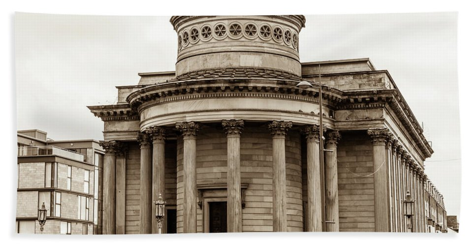 10x8 Beach Towel featuring the photograph Great George Street Congregational Church Liverpool by Jacek Wojnarowski