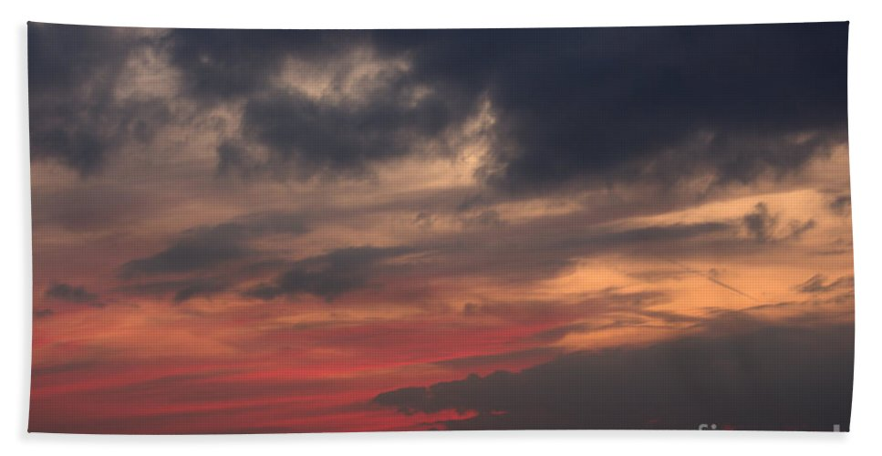 Grand Bend Beach Towel featuring the photograph Great White Cloud by John Scatcherd