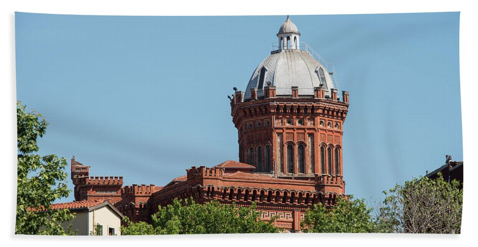 Fener Beach Towel featuring the photograph Greek Orthodox College Dome by Bob Phillips