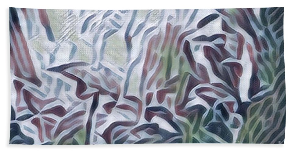 Abstract Beach Towel featuring the photograph Green 2 by Alwyn Glasgow