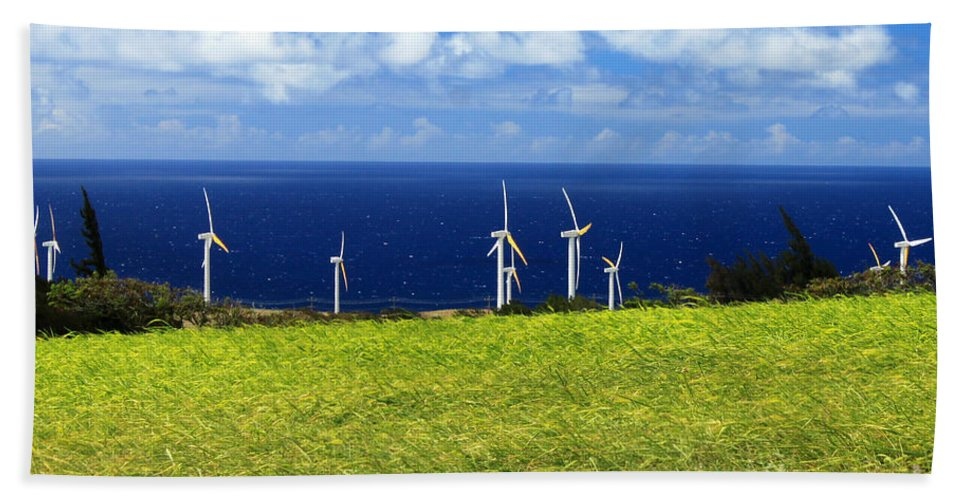 Alternative Beach Towel featuring the photograph Green Energy by James Eddy