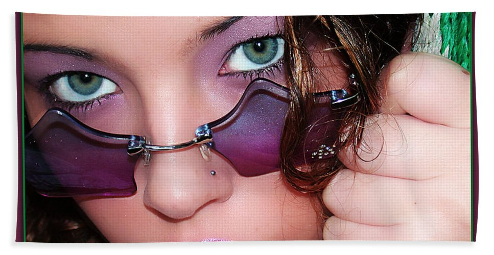 Clay Beach Sheet featuring the photograph Green Eye'd Girl by Clayton Bruster