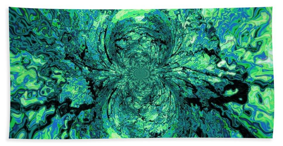 Green Beach Towel featuring the digital art Green Irrevelance by Charleen Treasures