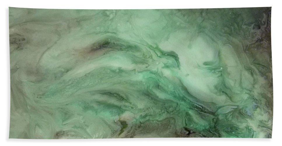 Green Beach Towel featuring the mixed media Green Texture by Daniel Gutierrez