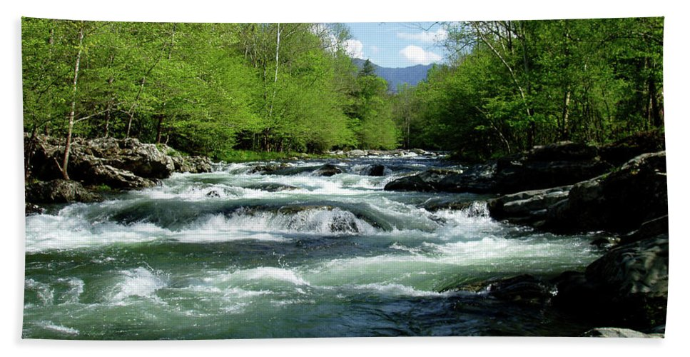 River Beach Towel featuring the photograph Greenbrier River Scene by Nancy Mueller