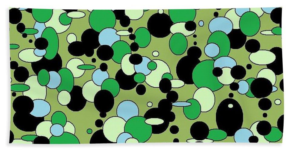 Beach Towel featuring the digital art Greenies by Jordana Sands