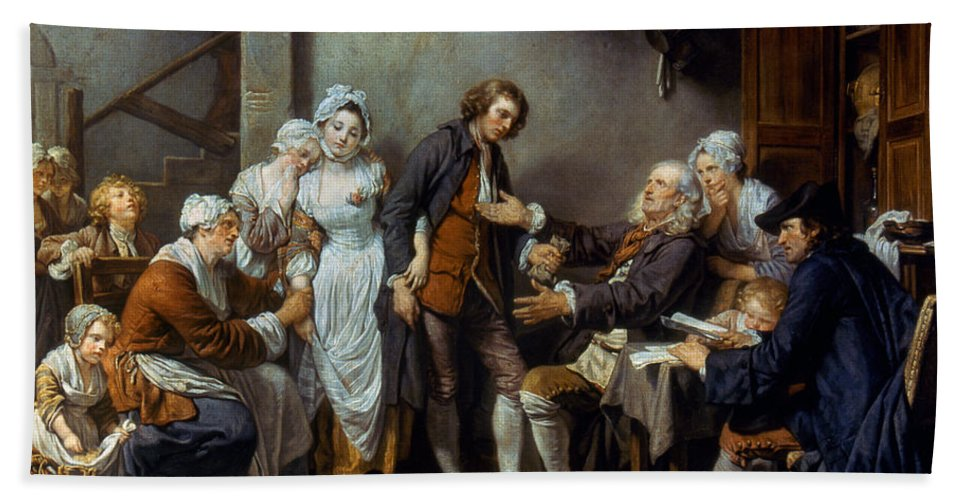 18th Century Beach Towel featuring the photograph Greuze: The Village Bride by Granger
