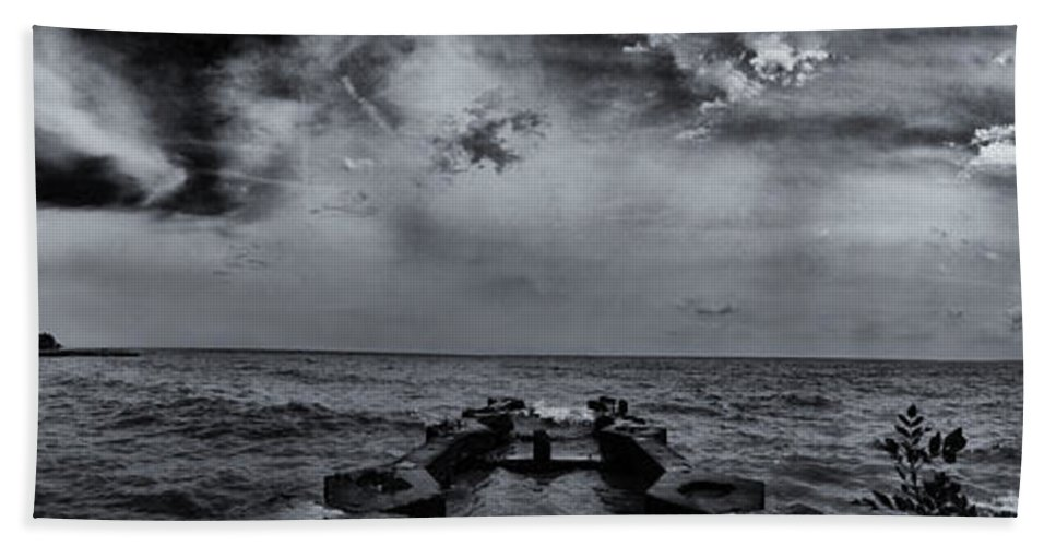 Www.cjschmit.com Beach Towel featuring the photograph Grey Sun by CJ Schmit
