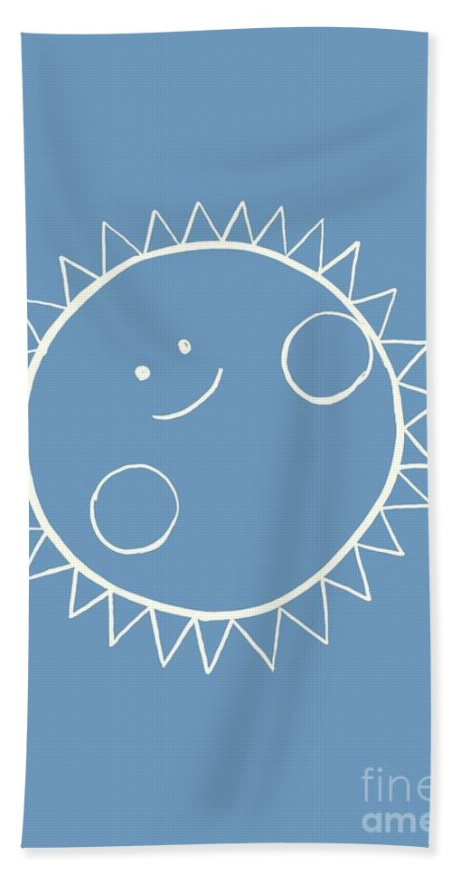 Sun Beach Towel featuring the painting Grey Sun by Sweeping Girl