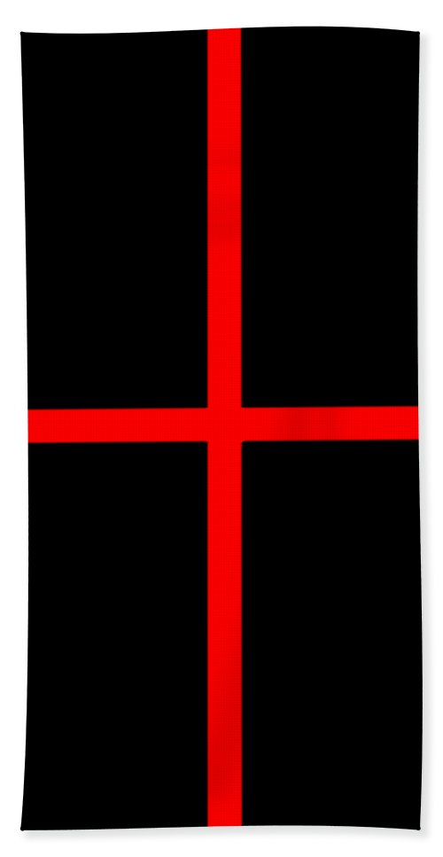 Grid Beach Towel featuring the digital art Grid Boxes In Black 02-p0171 by Custom Home Fashions