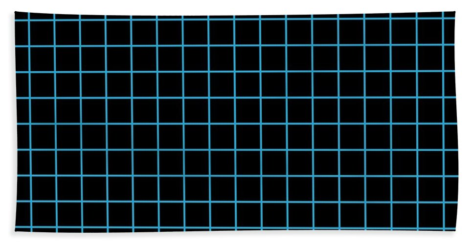 Grid Beach Towel featuring the digital art Grid Boxes In Black 18-p0171 by Custom Home Fashions