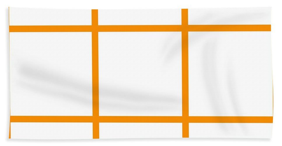 Grid Beach Towel featuring the digital art Grid Boxes In White 03-p0171 by Custom Home Fashions