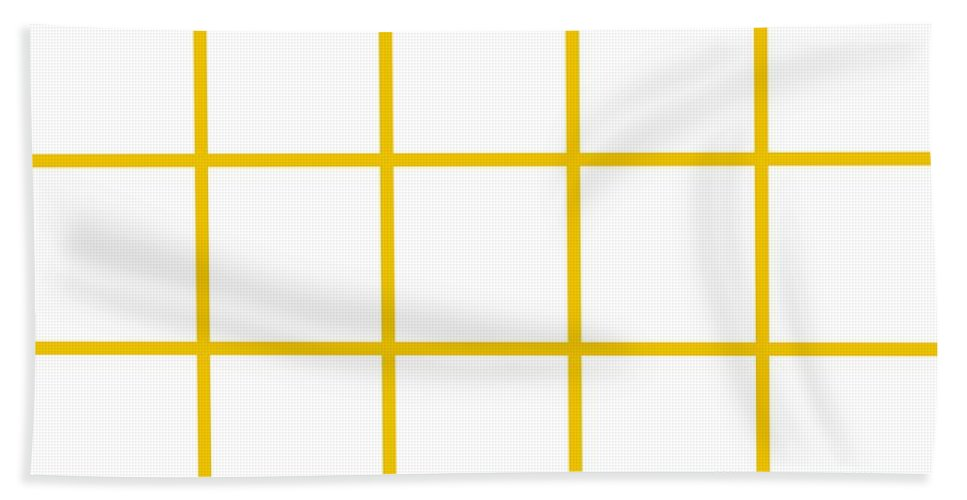 Grid Beach Towel featuring the digital art Grid Boxes In White 05-p0171 by Custom Home Fashions