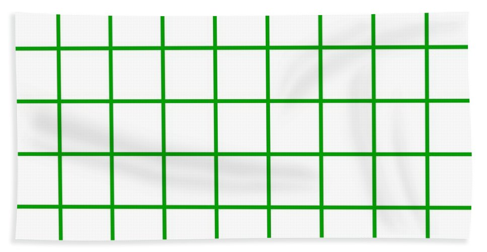 Grid Beach Towel featuring the digital art Grid Boxes In White 09-p0171 by Custom Home Fashions