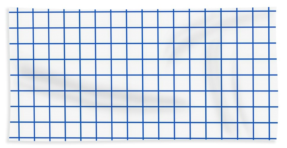 Grid Beach Towel featuring the digital art Grid Boxes In White 18-p0171 by Custom Home Fashions