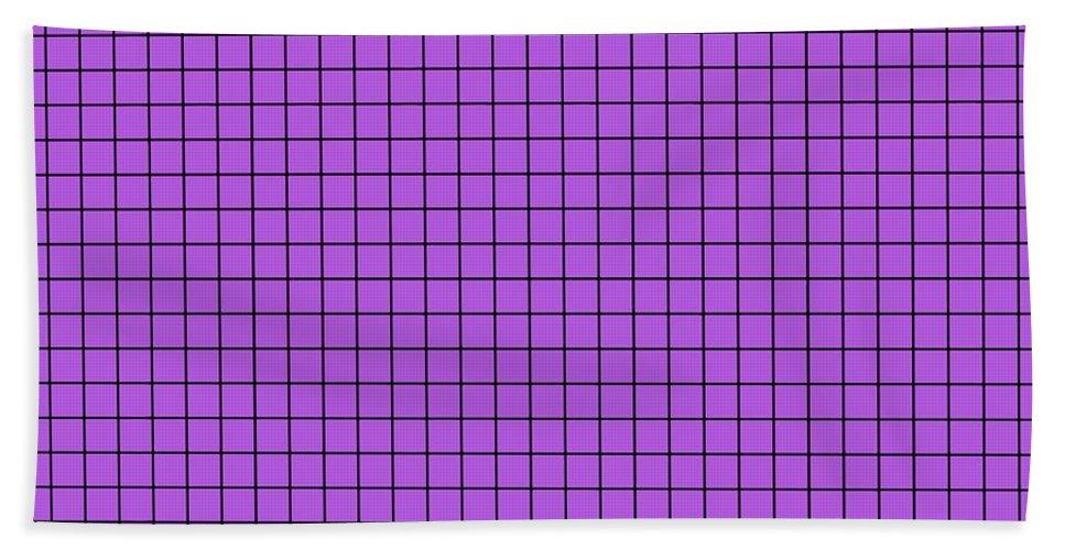 Grid Beach Towel featuring the digital art Grid In Black 30-p0171 by Custom Home Fashions