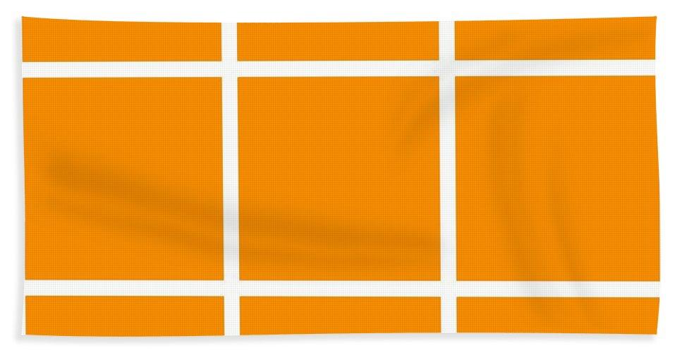 Grid Beach Towel featuring the digital art Grid In White 03-p0171 by Custom Home Fashions