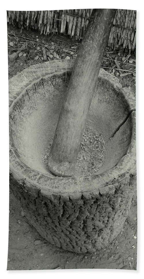 Corn Beach Towel featuring the photograph Grinding Corn by Peg Urban