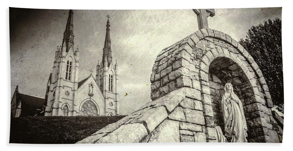 Architecture Beach Towel featuring the photograph Gritty Faith by Jim Love