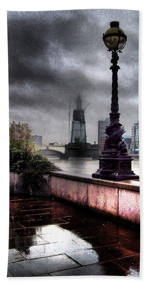 London Beach Towel featuring the photograph Gritty Urban London Landscape by Martin Newman