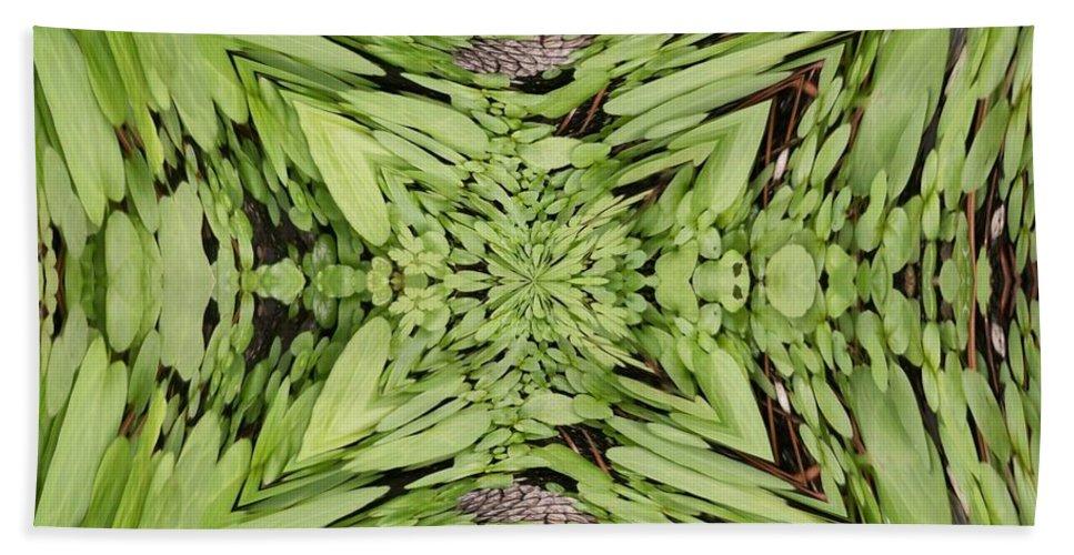 Nature Beach Towel featuring the digital art Ground Cover Vortex by Tim Allen